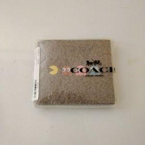 Coach PAC-MAN Motif ID Billfold Saddle Wallet